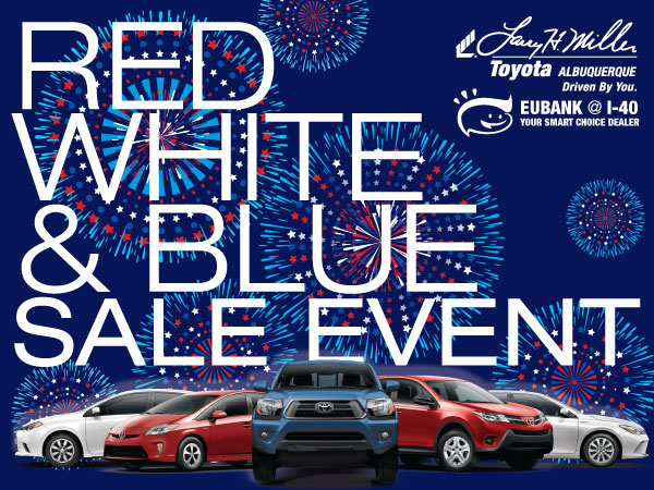 Red White and Blue Sale at Toyota Albuquerque