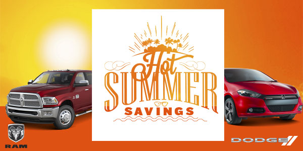 HOT SUMMER SAVINGS DURING LARRY H. MILLER  TUCSON DODGE SUMMER CLEARANCE EVENT