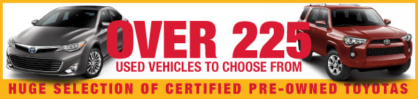 Over 225 used vehicles to choose from