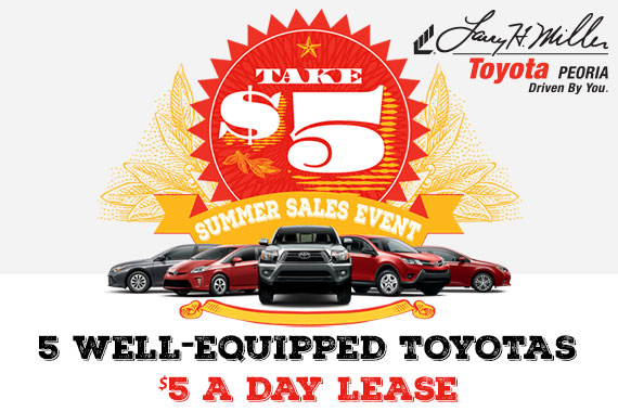 Take $5 at Toyota Peoria