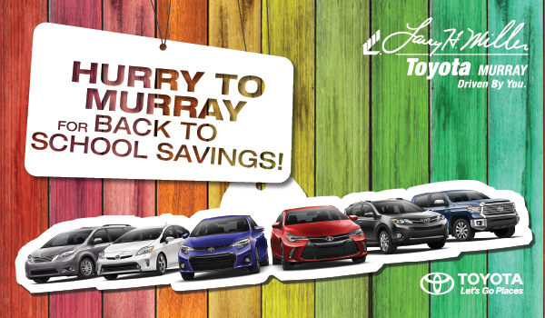 Back to School Sale with Toyota Murray.